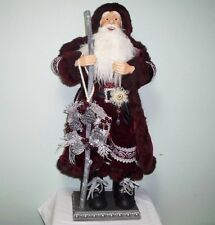 Christmas 4ft. Merriment Santa Clause Resin Figure Handcrafted High Qlty Velvet