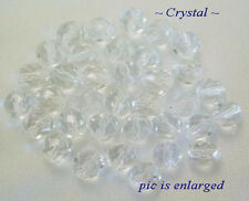 50 Crystal Faceted Fire Polished Round Czech Glass Beads 8MM