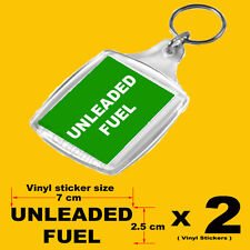 Unleaded Fuel Reminder Set - 1 x Keyring and 2 x Fuel Cap/Flap Vinyl Stickers