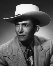 American Country Singer HANK WILLIAMS SR Glossy 8x10 Photo Portrait Print