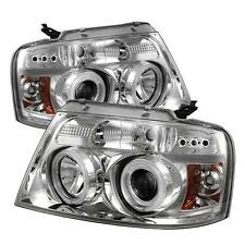 Projector Head Lights Lamps Ford F150 2004-2008 CCFL LED - Chrome