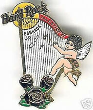 Hard Rock Cafe BANGKOK 1997 Valentine's Day PIN HARP Clasp Bk - HRC Catalog #919