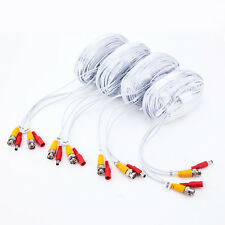 4 x 100ft/roll 30m BNC DC cable,Premade Siamese Video for 4CH CCTV DVR camera