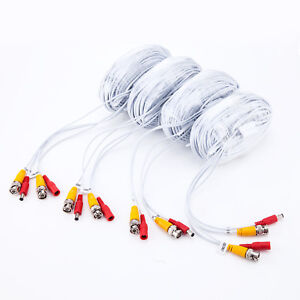 4 x 100ft/roll 30m BNC DC cable,Premade Siamese Video for 4 8CH CCTV DVR camera