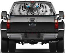 Tiger Head BW Blue Eyes Window Graphic Decal Sticker Truck SUV Van Car