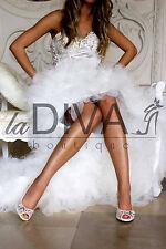 MENBUR ~ Peeptoe Pumps aus Netz mit Perlen & Strass 38 Ivory Weiß Brautschuhe