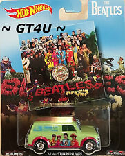 Hot Wheels Pop Culture The Beatles '67 Austin Mini Van Sgt Pepper's Lonely Club