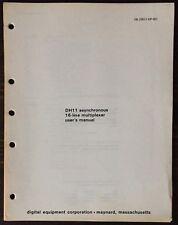 Digital Dec Pdp-11 Dh11 Asynchronous 16-Line Multiplexer User's Manual 1976