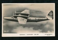 Aircraft Air Force Military German DORNIER DO 26 c1930s? RP PPC by Valentine