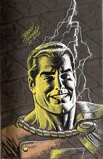 Power of Shazam HC volume 1, original bookplate sketch art by Jerry Ordway