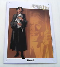 L'ORDRE DE CICERON . PLAQUE METAL  . PAUL GILLON . GLENAT