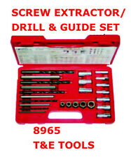 Screw Extractor Drill & Guide Set Screw Remover Hand Tools Remove T&E TOOLS 8965