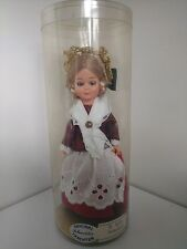 Original Schneider Trachten Doll St. Gallen Switzerland, sleepy eyes, in case