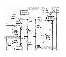 Vox Tube Amplifier Cambridge Reverb Schematic Diagram Parts value repair PDF