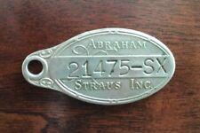 Vintage Abraham & Straus Metal Credit Charge Plate