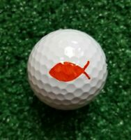 Golf Ball Marker Fish Plus - Fish Stencil plus Alignment Line and Circle