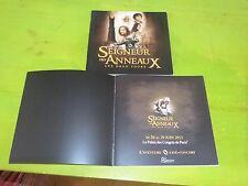 LE SEIGNEUR DES ANNEAUX - LES DEUX TOURS - L'AVENTURE CINE CONCERT !!PRESS/BOOK
