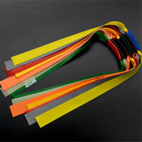 10pcs Flat Elastic Rubber Band Outdoor Slingshot Replacement Super Band N0E1