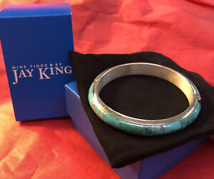 Jay King Beautiful Turquoise Bangle Set in Sterling