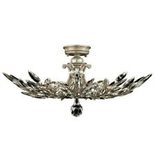 Crystal Laurel Semi flush mount Silver/Antique Taupe Fine Arts Lamp (Google it)