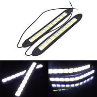 2x 20W Waterproof Car LED 12V Daytime Running Light DRL Fog COB Strip Lamp+y