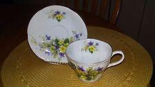 Vintage Royal Albert Primulette Purple and Yellow Flower Shelley Shape
