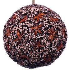 Star Anise Twig Mosaic Decorative Ball Ornament Natural Christmas Tree New 521w