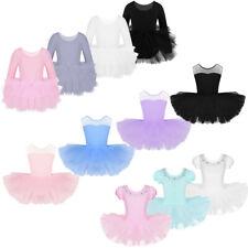 Girls Ballet Dance Dress Leotard Tutu Tiered Skirt Dancewear Ballerina Costumes