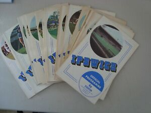 Full set of Ipswich 1971-72 home programmes - 22 programmes in all