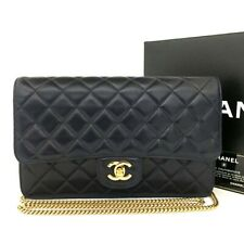 Vintage CHANEL Quilted 25 CC Logo Lambskin Chain 2way Shoulder Bag Navy / 2aIX x