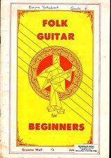 Teach Yourself FOLK GUITAR for BEGINNERS Sheet Music Book VGC + FREE BONUS
