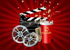 6 Einladungskarten Kindergeburtstag Kino, Geburtstagseinladungen Kinder Theater