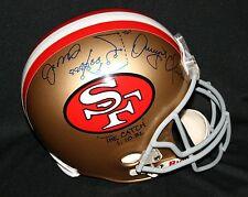 "JOE MONTANA DWIGHT CLARK ""The Catch"" San Francisco 49ers Helmet Autograph JSA"