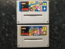 Super Bomberman 1 + 2 SNES Super Nintendo Game Carts Only Pal