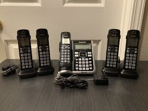 Panasonic KX-TGF575S Link2cell Bluetooth 5-Handset Cordless (see description)