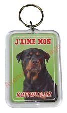 """Porte clé chien """"J'aime mon Rottweiler"""" idée cadeau pas cher NEUF"""