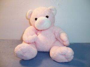 TY BABY  PLUFFIES -- PUTTER --  PINK BEAR / WHITE NOSE & EARS -- 2003 -- VGC