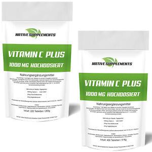 220 - 800 Tabletten Vitamin C Plus - Vegan 1000mg - Ascorbinsäure Time Released
