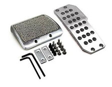 2Pcs Car Auto Automatic Gas Brake Non Slip MT Pedal Cover Set Silver Tone