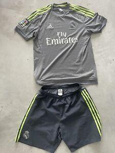 Adidas Original Real Madrid Auswärts Trikot & Short Gr. M Grau