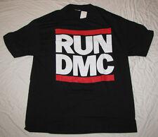 LARGE MENS GRAPHIC T-SHIRT RUN DMC R&B RAP MUSIC 80'S HIP HOP JAM MASTER JAY TEE