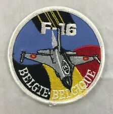 Rare Vintage Belgium Air Force F-16 Patch General Dynamics Fighter Aircraft
