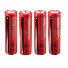 4pcs 18650 4200mAh 3.7V Li-ion Rechargeable Battery For Flashlight Headlamp NEW
