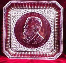 Gen. Ulysses Grant Commemorative Plate Square Early American Pattern Glass 1885