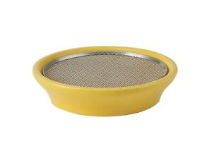 Eschenfelder Kressesieb aus Edelstahl, Keramikschale 12cm - gelb