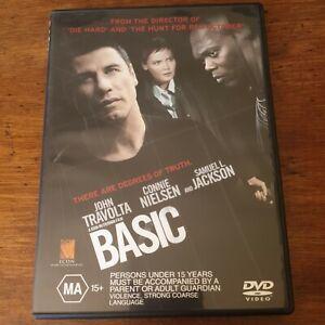 Basic John Travolta DVD R4 Like New! FREE POST