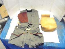 vintage hunting vest ammo pouch bob allan's gun club sportswear des moines iowa