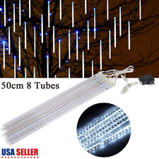 50cm 240 LED Lights Meteor Shower Rain 8 Tube Xmas Snowfall Tree Outdoor Light