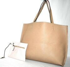 Street Level 'Reversible' Tote & Wristlet- Pink /Tan- Pre-owned (See Cond.) $48