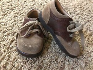STRIDE RITE Baby Boys Saddle Shoes ~ Size 5W 5 ~ Brown
